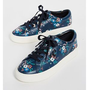 NWOT Tory Burch Amalia Floral Sneakers Size 9.5